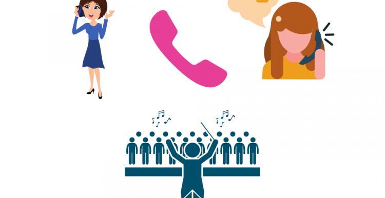 phone and choir