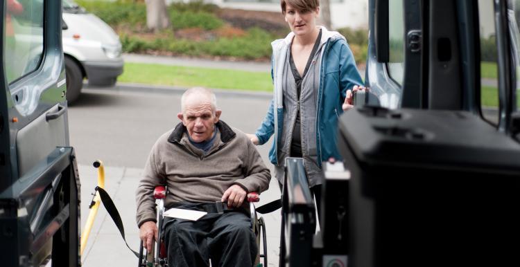 man in wheelchair frailty