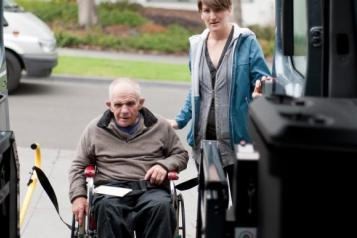 man in wheelchair frailty