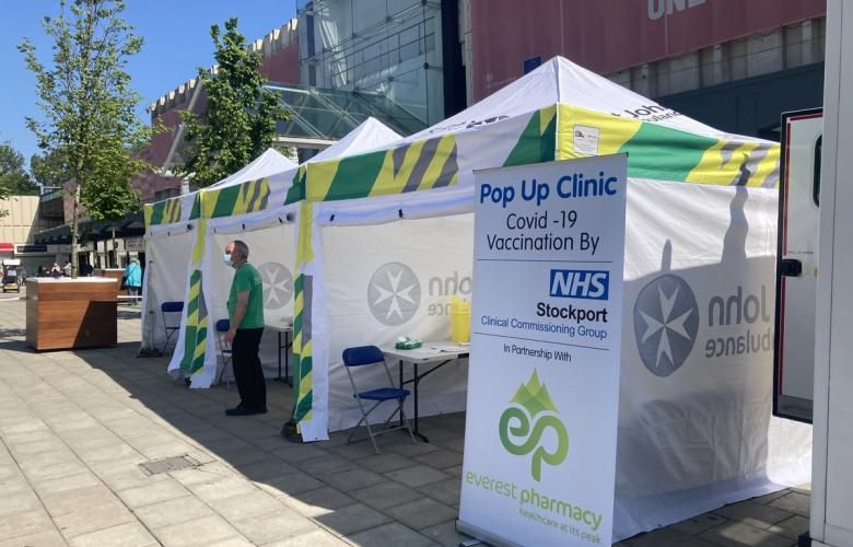 POP UP CLINIC IN STOCKPORT